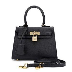 Handbags - Ainifeel Women's Padlock Genuine Leather Shoulder